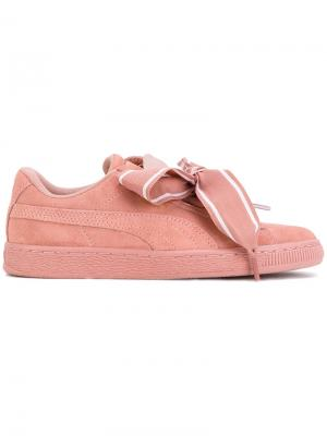Кеды Suede Heart Puma. Цвет: розовый и фиолетовый