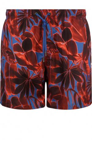 Плавки-шорты с принтом Ermenegildo Zegna. Цвет: бордовый