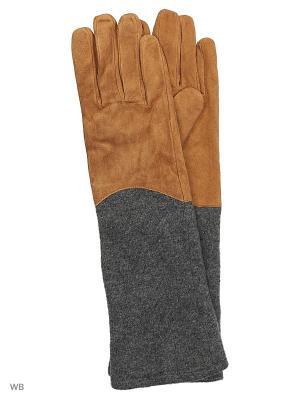 Перчатки Reserved. Цвет: рыжий, светло-оранжевый