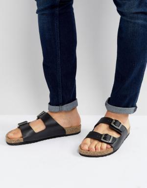 ASOS Черные сандалии с пряжкой. Цвет: черный