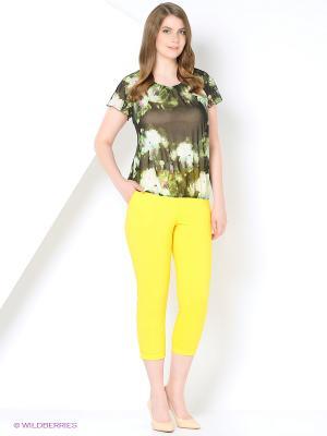 Капри Milana Style. Цвет: желтый