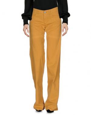 Повседневные брюки GOLD CASE. Цвет: охра