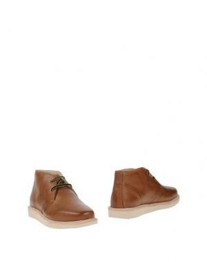 Полусапоги и высокие ботинки BASE. Цвет: верблюжий