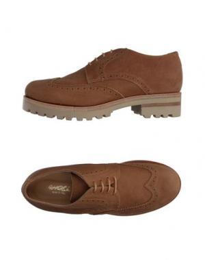 Обувь на шнурках ANGEL. Цвет: верблюжий