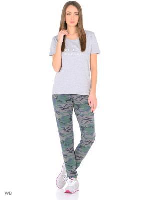 Трикотажные брюки ARSTA. Цвет: серый, зеленый