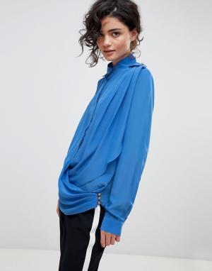 Gestuz Рубашка с запахом. Цвет: синий