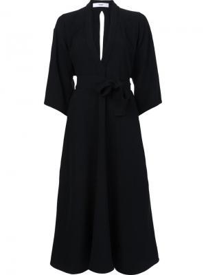 Платье с V-образным вырезом Tome. Цвет: чёрный