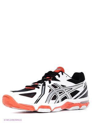 Волейбольные кроссовки Gel-Volley Elite 3 ASICS. Цвет: серебристый, оранжевый, белый