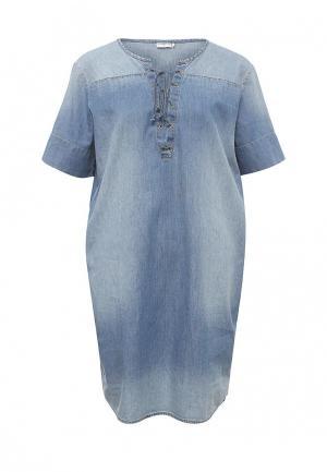 Платье джинсовое Jacqueline de Yong. Цвет: голубой