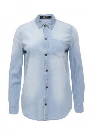 Рубашка джинсовая Incity. Цвет: голубой