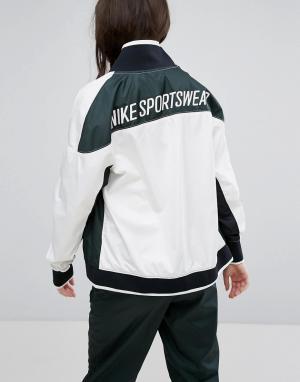 Nike Зеленая спортивная куртка на молнии Archive. Цвет: зеленый