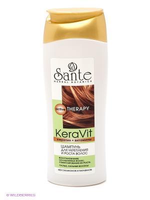 Шампунь для укрепления и роста волос  KeraVit Sante. Цвет: белый