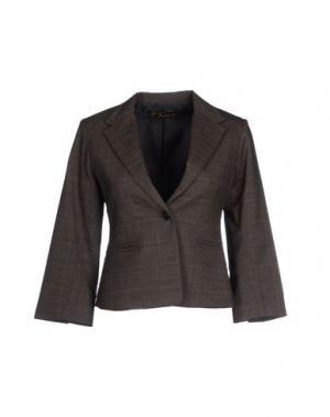Пиджак BEAYUKMUI. Цвет: темно-коричневый