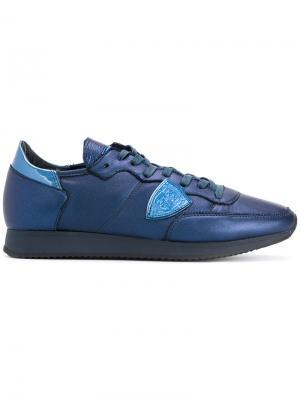 Кроссовки с заплаткой-логотипом Philippe Model. Цвет: синий