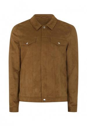 Куртка Topman. Цвет: коричневый