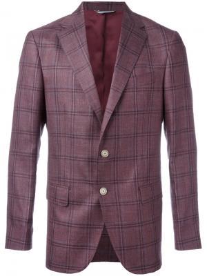 Однобортный блейзер Fashion Clinic Timeless. Цвет: розовый и фиолетовый