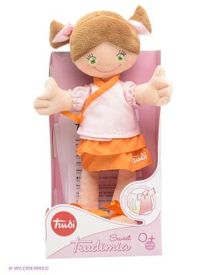 Мягкая кукла TRUDI. Цвет: бежевый, оранжевый, розовый