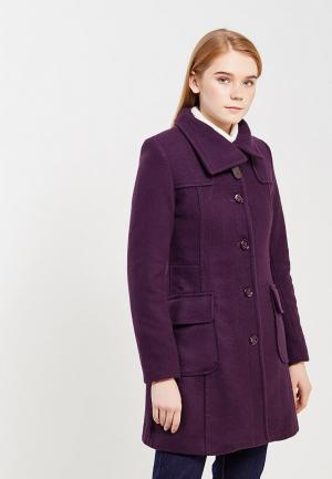 Пальто Gluen. Цвет: фиолетовый