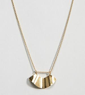 ASOS Серебряное ожерелье с подвеской DESIGN. Цвет: золотой