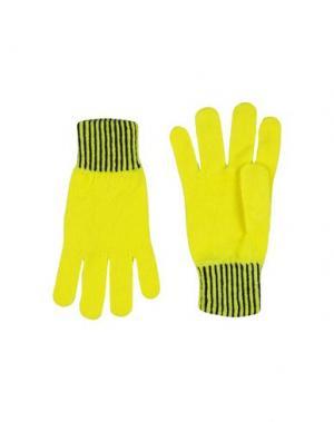 Перчатки PAUL SMITH. Цвет: желтый