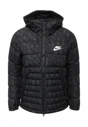 Пуховик Nike. Цвет: серый