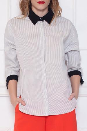 Рубашка Nissa. Цвет: white, black