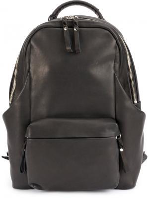 Zipped backpack Cornelian Taurus By Daisuke Iwanaga. Цвет: чёрный