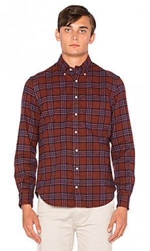 Рубашка на пуговицах Gitman Vintage. Цвет: красный