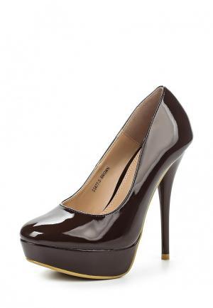 Туфли Ideal Shoes. Цвет: коричневый