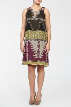 Платье For.Me Elena Miro. Цвет: коричневый, желтый, зеленый