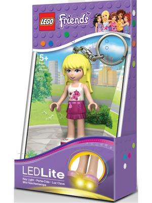 Брелок-фонарик для ключей LEGO FRIENDS - Stephanie. Цвет: бордовый, светло-бежевый, светло-желтый, белый