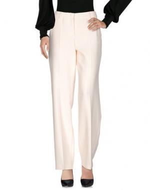 Повседневные брюки LUISA CERANO. Цвет: слоновая кость