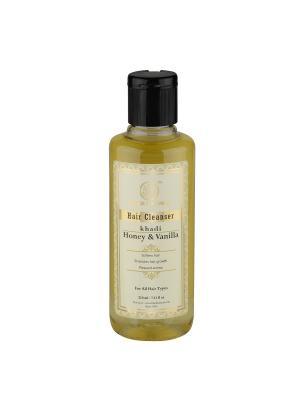 Шампунь Мед и Ваниль для восстановления роста волос Khadi Natural. Цвет: светло-желтый