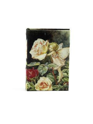 Шкатулка-фолиант Цветочная фея 14*10*3см Русские подарки. Цвет: черный, зеленый, серый, темно-бежевый, красный