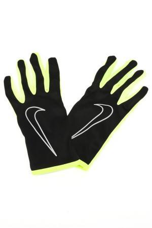 Перчатки для бега Nike. Цвет: желтый