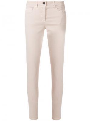 Классические джинсы скинни Luisa Cerano. Цвет: телесный