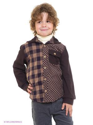 Рубашка L/S REVERSIBLE Multi-Plaid Hoodie Fore!! Axel and Hudson. Цвет: коричневый, светло-коричневый
