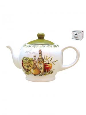 Чайник 1000 мл  Оливки Коралл. Цвет: белый