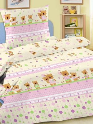 Комплект в кроватку Letto Ясли BG-14, бязь. Цвет: розовый