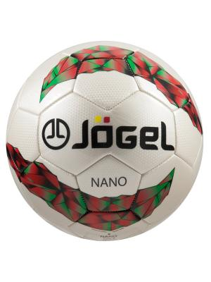 Мяч футбольный Jоgel JS-200 Nano №5 Jogel. Цвет: белый, зеленый, красный, черный