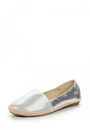 Эспадрильи Style Shoes. Цвет: серебряный