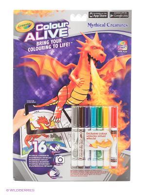 Интерактивная раскраска Colour Alive Драконы Crayola. Цвет: фиолетовый