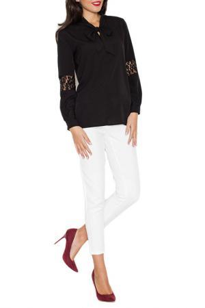Блуза KATRUS. Цвет: black