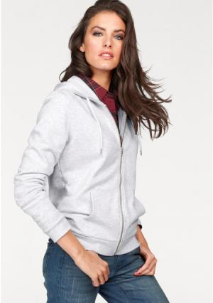 Толстовка Aniston. Цвет: светло-серый/меланжевый