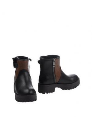 Полусапоги и высокие ботинки FRANCESCO MILANO. Цвет: темно-коричневый