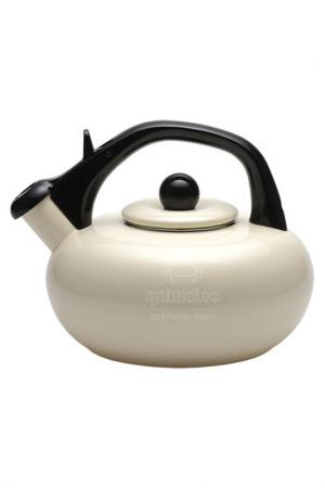 Эмалированный чайник, 2,5 л Granchio. Цвет: бежевый