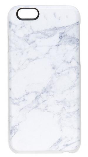 Чехол для iPhone 6/6s с принтом под белый мрамор Casetify