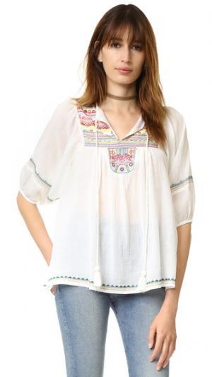 Полупрозрачная рубашка с длинными рукавами Christophe Sauvat Collection. Цвет: кремовый мульти