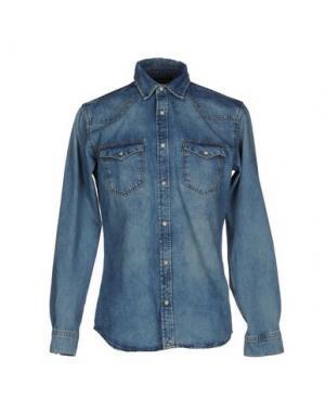 Джинсовая рубашка JACK & JONES. Цвет: синий