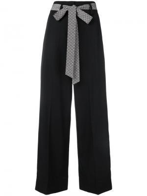 Классические брюки Nitta с завязкой на талии Racil. Цвет: чёрный